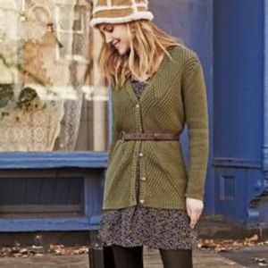 Cabi Small Olive Green Aerial Cardigan